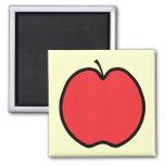 Apple rojo con un esquema negro imanes