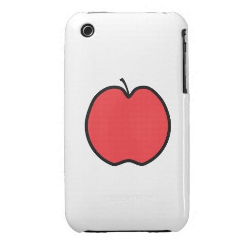 Apple rojo con un esquema negro iPhone 3 protector