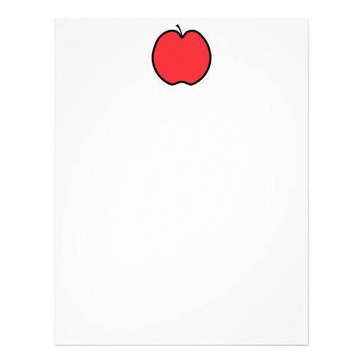 Apple rojo con un esquema negro membrete a diseño