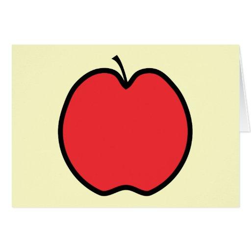 Apple rojo con un esquema negro tarjeta