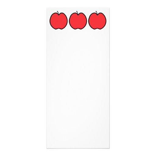 Apple rojo con un esquema negro tarjeta publicitaria