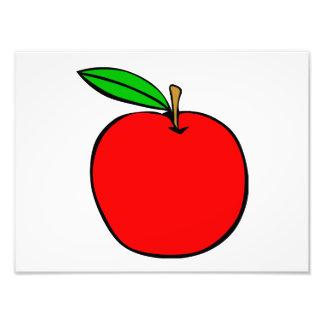Apple rojo delicioso arte con fotos