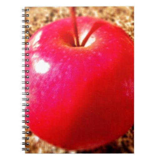 Apple rojo delicioso libretas espirales