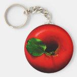 Apple rojo diseña llavero