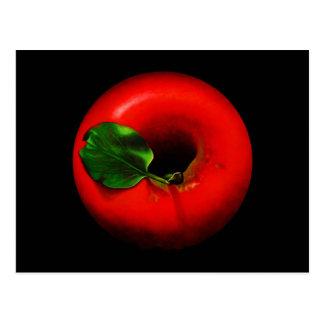 Apple rojo diseña postal