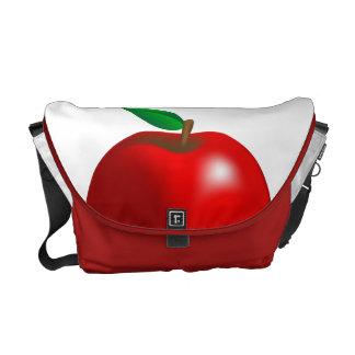 Apple rojo empaqueta bolsas de mensajeria