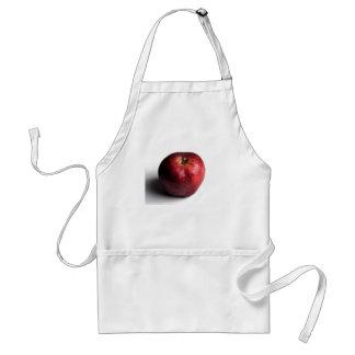 Apple rojo en blanco delantales