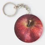 Apple rojo en blanco llaveros