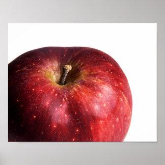 Apple rojo en blanco impresiones
