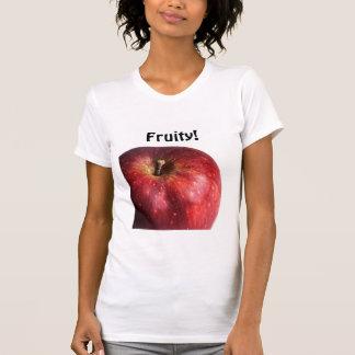 Apple rojo en blanco camisetas
