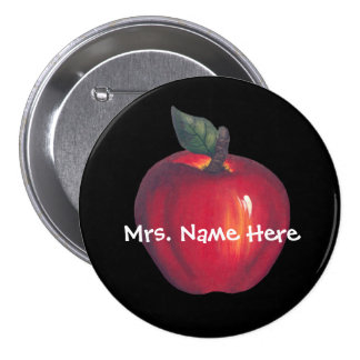 Apple rojo en negro pin
