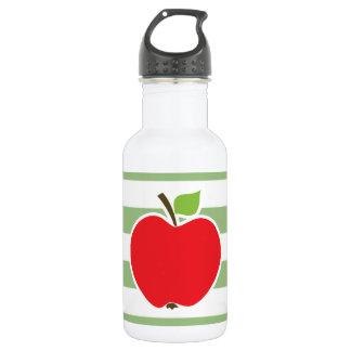 Apple rojo en rayas horizontales del verde del