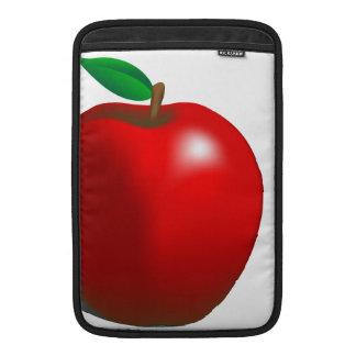 Apple rojo envuelve funda  MacBook