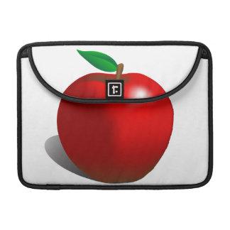 Apple rojo envuelve funda macbook pro