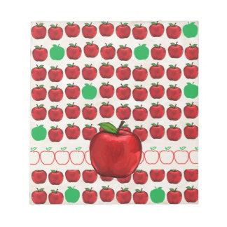 Apple rojo grande en Apple diseña con rojo y pone Blocs De Notas