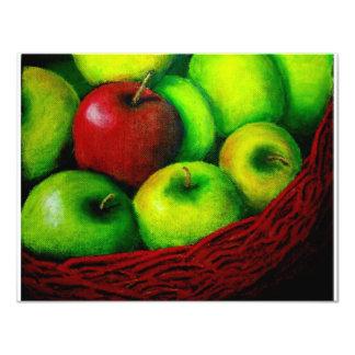 Apple rojo invitacion personal