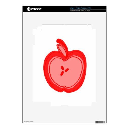 Apple rojo iPad 2 skins