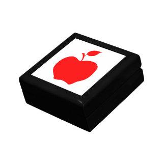 Apple rojo joyero cuadrado pequeño
