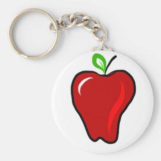 Apple rojo maduro llavero personalizado