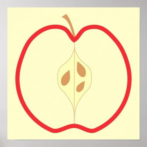 Apple rojo medio, en el fondo poner crema impresiones