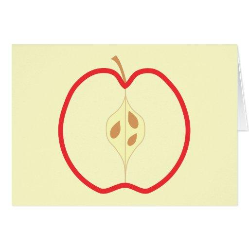 Apple rojo medio, en el fondo poner crema felicitacion