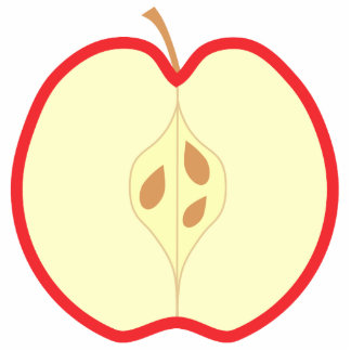 Apple rojo medio fotoescultura vertical