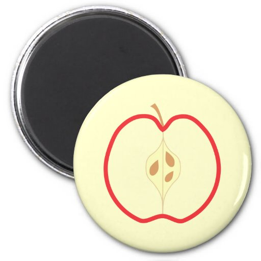Apple rojo medio imán para frigorifico