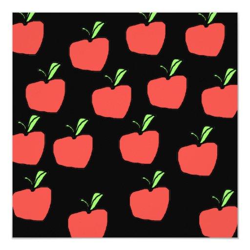 Apple rojo modela comunicados personales