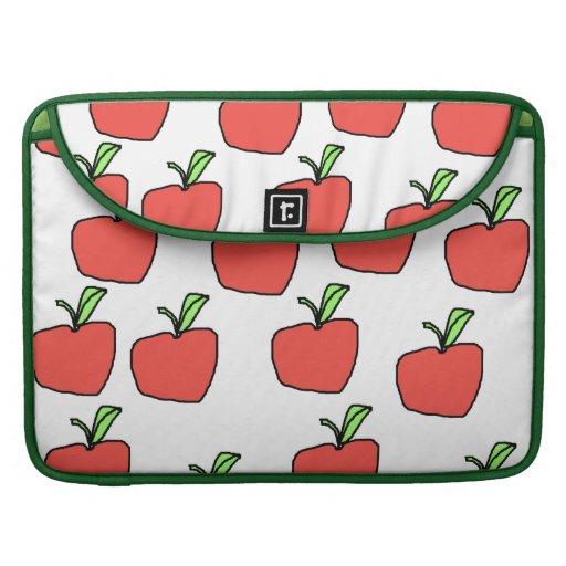 Apple rojo modela fundas para macbook pro