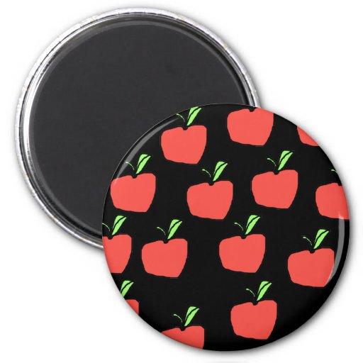 Apple rojo modela imán para frigorifico