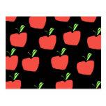 Apple rojo modela postal