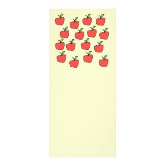 Apple rojo modela plantillas de lonas