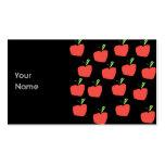 Apple rojo modela tarjetas de visita