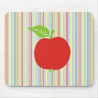 Apple rojo Mousepad Tapetes De Ratones