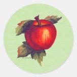 Apple rojo pegatina