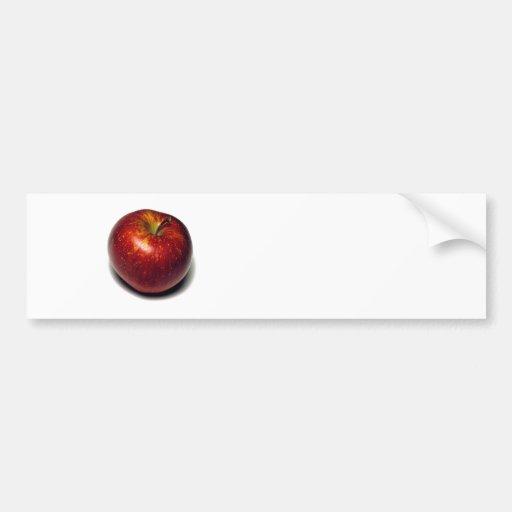 Apple rojo pegatina para auto