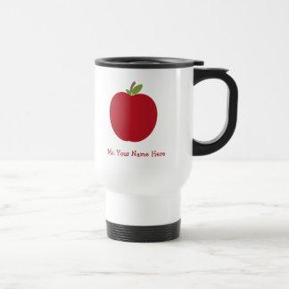 Apple rojo personalizó al profesor taza de viaje