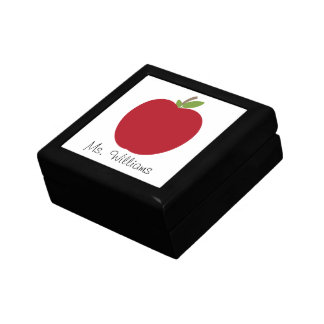 Apple rojo personalizó la caja de regalo del profe