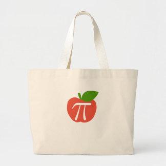 Apple rojo pi bolsa tela grande