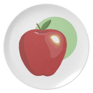 Apple rojo platea platos