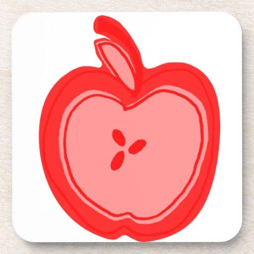 Apple rojo posavaso