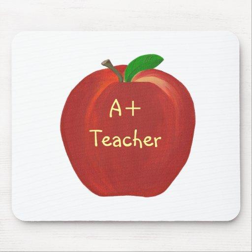 Apple rojo que pinta, A+ Mousepads del profesor
