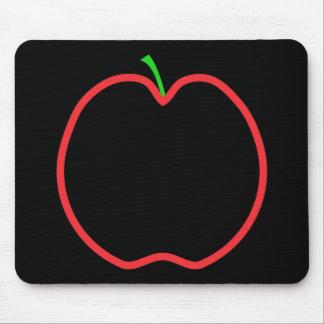 Apple rojo resume. Centro negro, tronco verde Alfombrillas De Ratón