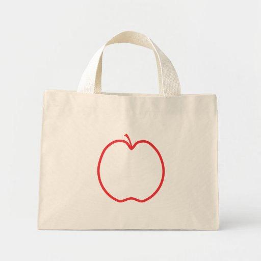 Apple rojo resume, en el fondo blanco bolsa