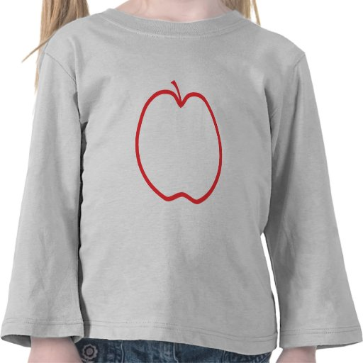 Apple rojo resume, en el fondo blanco camisetas