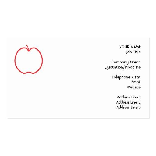 Apple rojo resume, en el fondo blanco tarjeta de visita