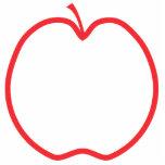 Apple rojo resume escultura fotografica