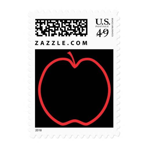 Apple rojo resume sellos