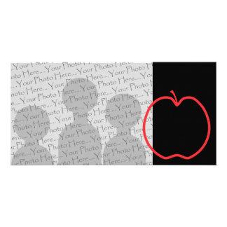Apple rojo resume tarjetas con fotos personalizadas