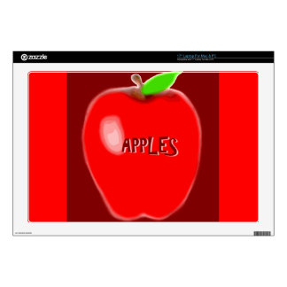 Apple rojo skins para 43,2cm portátiles